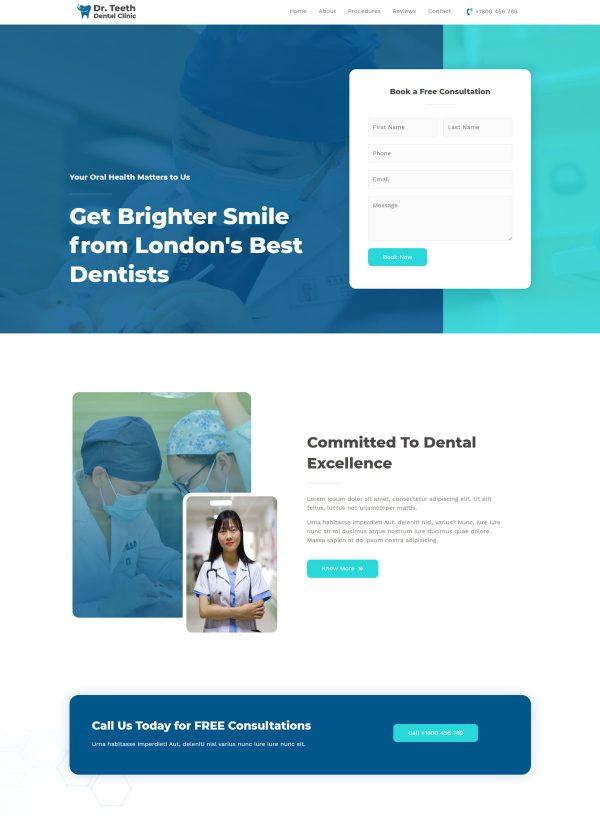 Print do site Consultório Dentário ou Clinica para Dentistas - Pagina Quem Somos