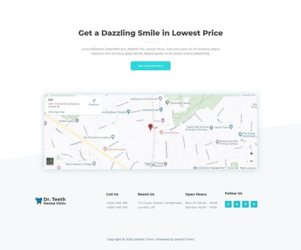Print do site Consultório Dentário ou Clinica para Dentistas - Pagina Endereço