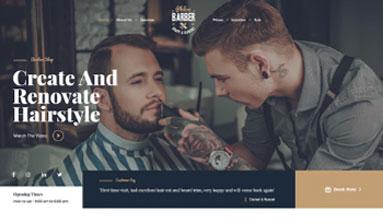 Foto de Homem com a barba sendo feita por profissional