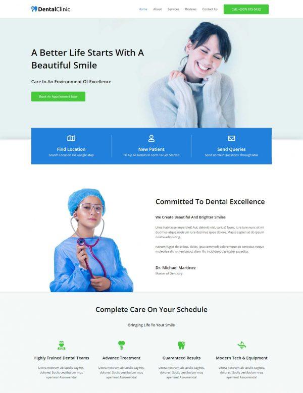 Print do site Consultório Dentário ou Clinica para Dentistas