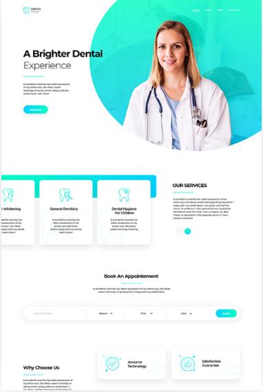 Print do Site Consultório Odontológico Pagina 1