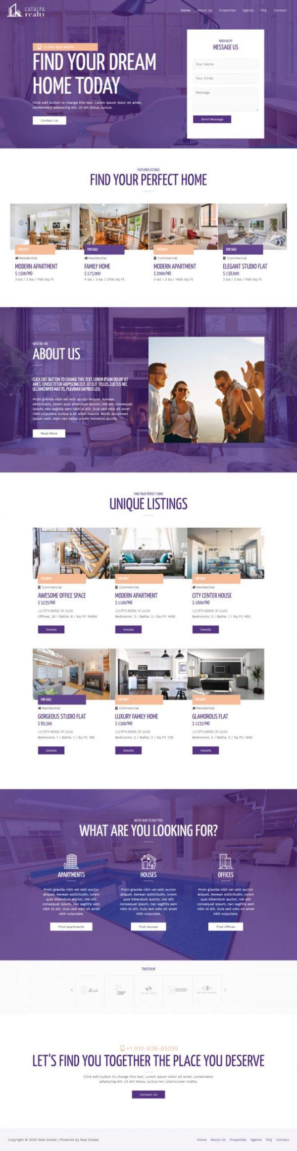 Print do site Corretor de Imóveis - Listagem de Imóveis para alugar ou comprar