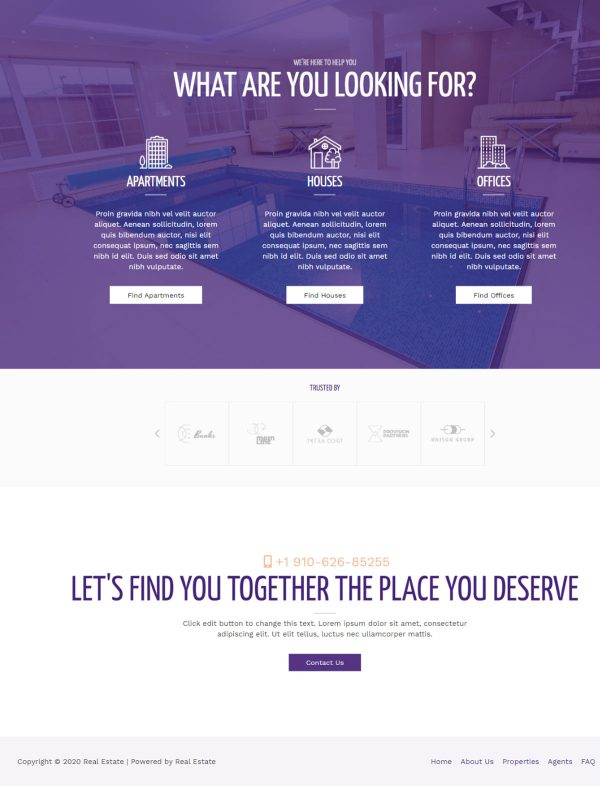 Print do site Corretor de Imóveis Opções de Imóveis